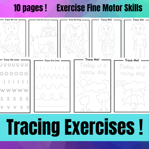 Tracing exercises for kids